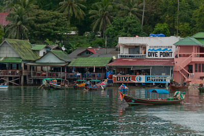 Glimpse of the fishing community in Ko Samui, Thailand