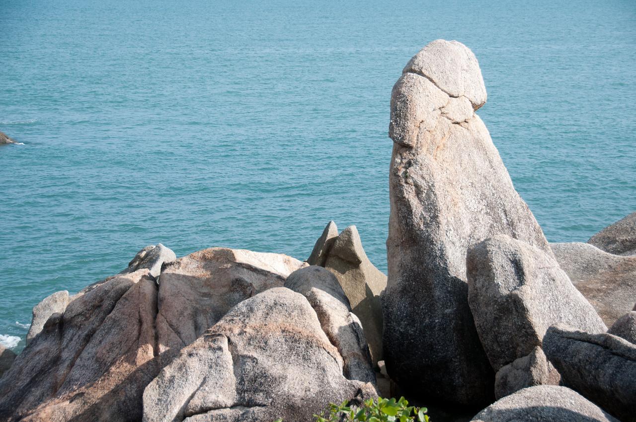 Close-up shot of rock formation in Ko Samui, Thailand