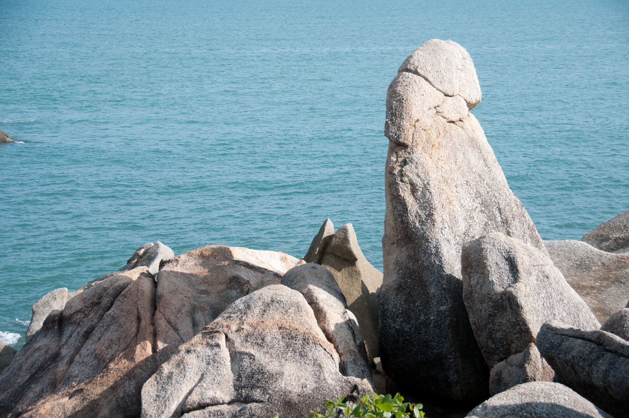 Close-up shot of rock formation in Ko Samui, Thailand