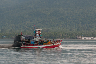 Large fishing boat on the sea at Ko Samui, Thailand