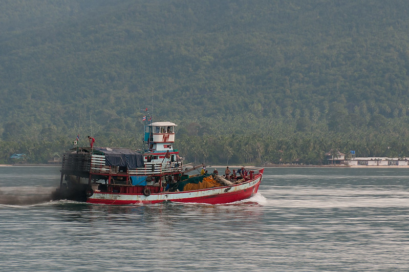 Large fishing boat on the sea at Ko Samui, Thailand