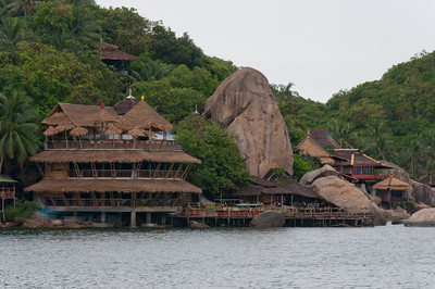 Large rock formation by the water in Ko Samui, Thailand