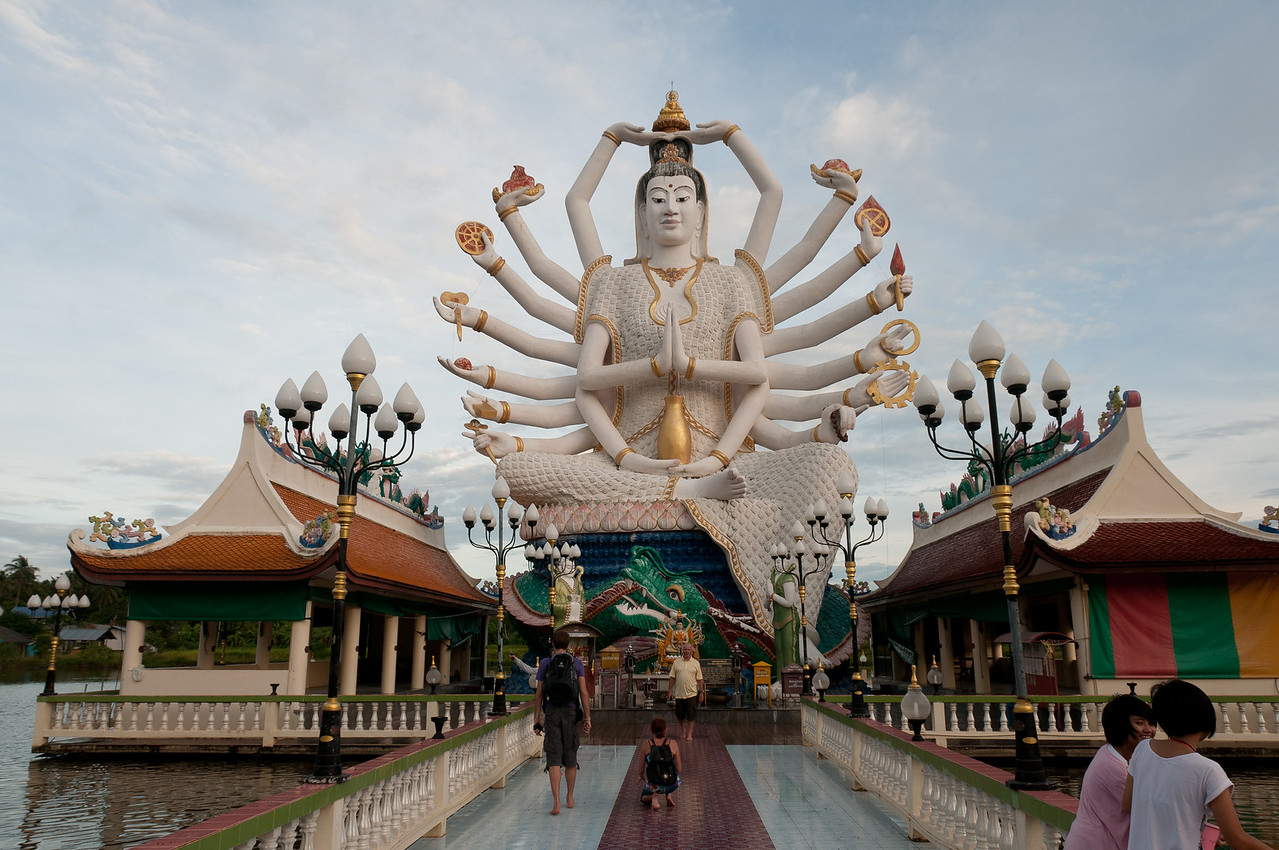 Path towards the Hindu statue in Ko Samui, Thailand