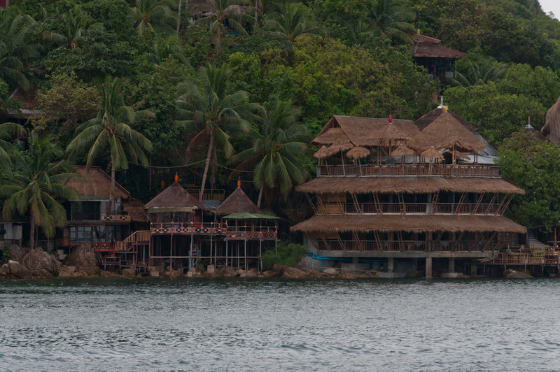 More wooden huts by the sea in Ko Samui, Thailand