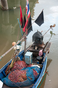 Fishing supplies on a boat in Ko Samui, Thailand