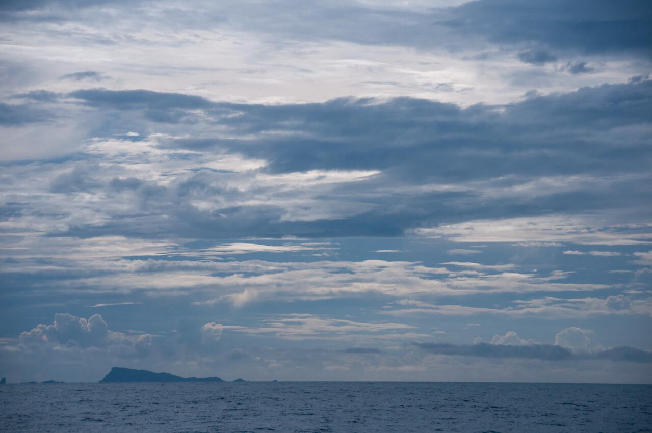 Calm water and dark clouds at Ko Samui, Thailand