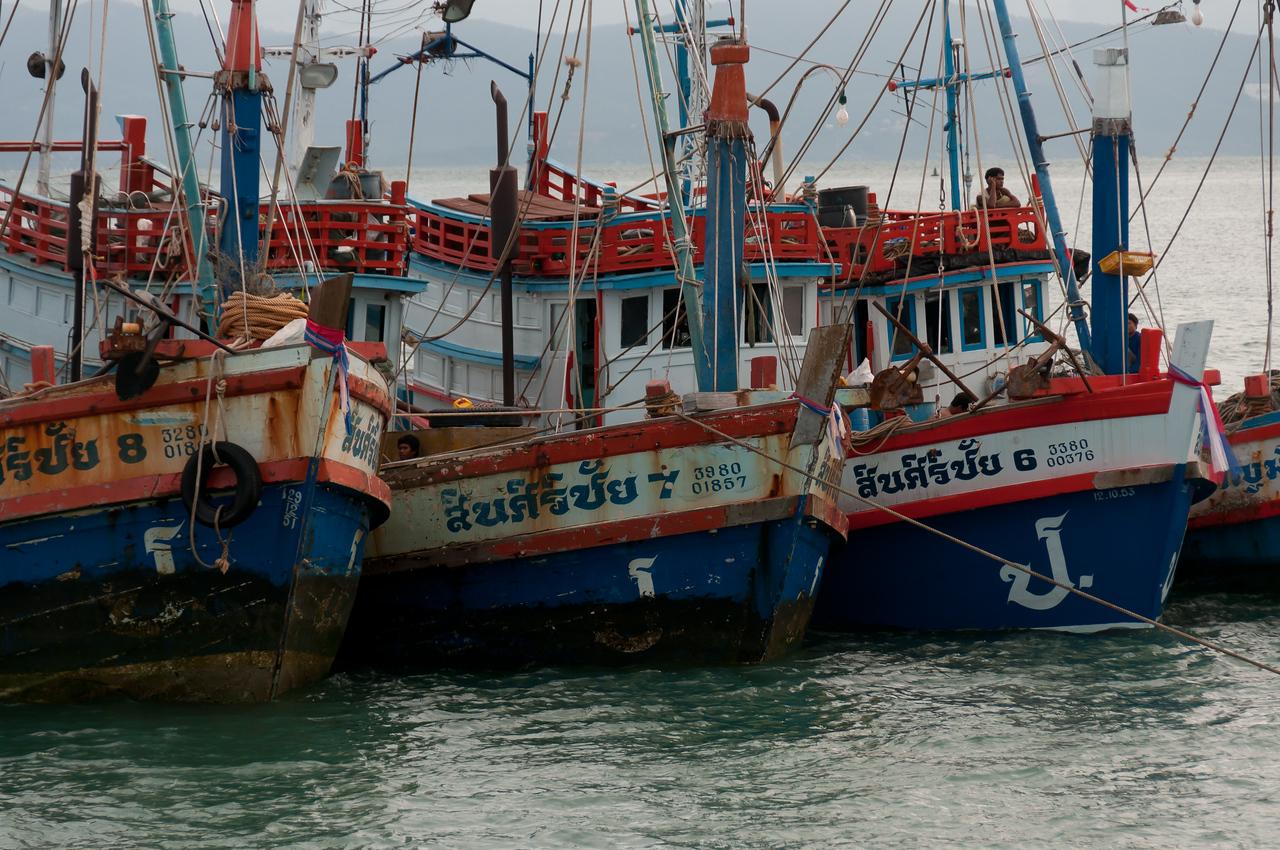 Fishing boats at the sea in Ko Samui, Thailand
