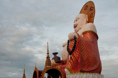 Side profile of the big Buddha statue at Ko Samui, Thailand