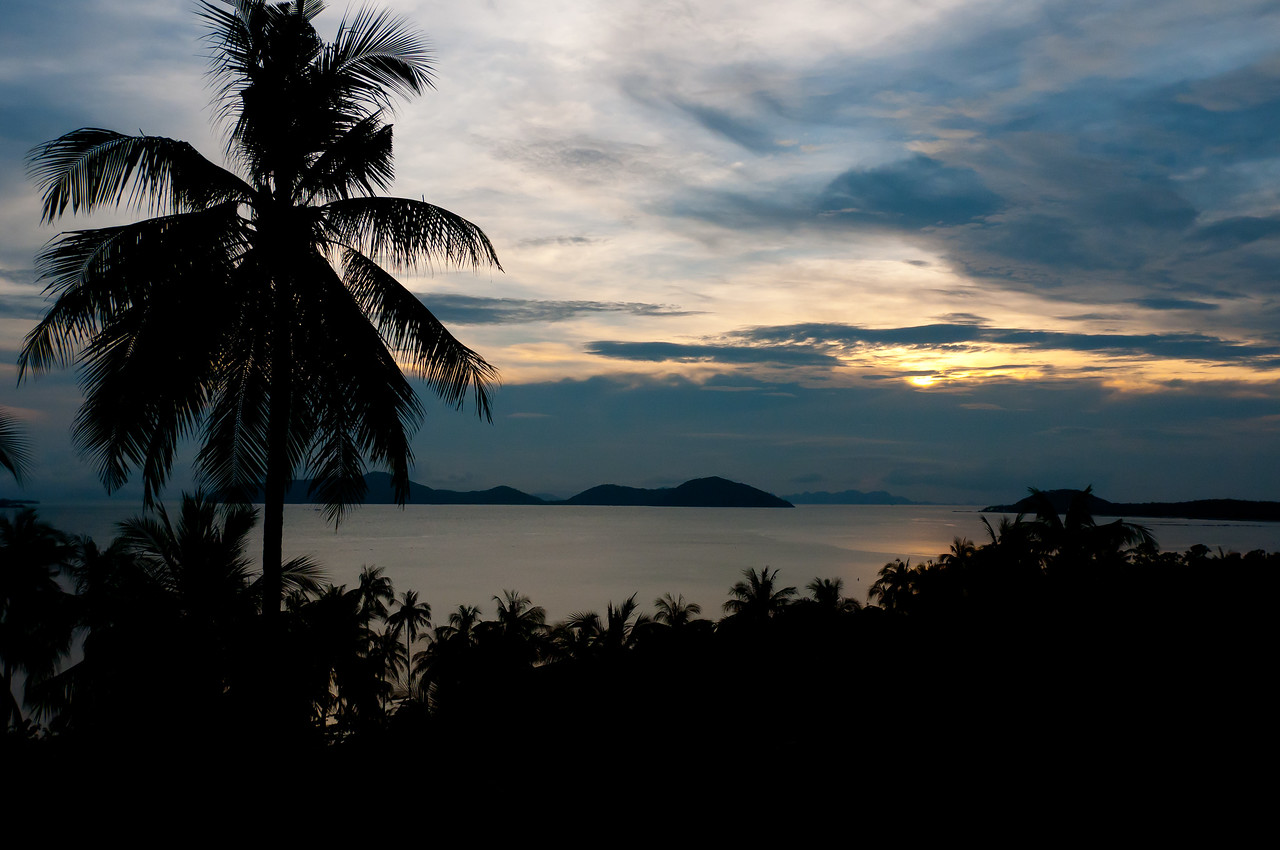 Beautiful view of sunset in Ko Samui, Thailand