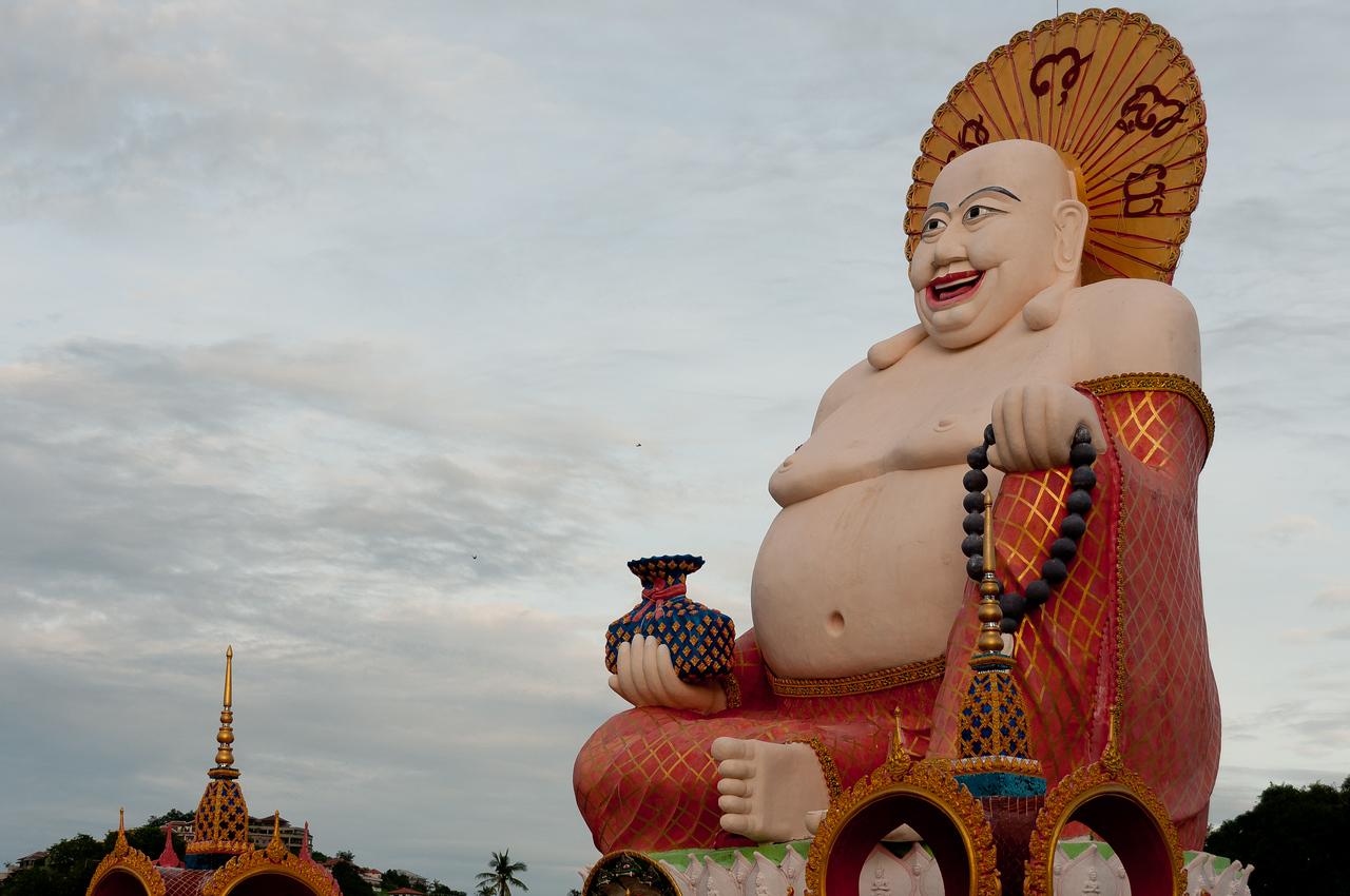 Bid Buddha statue in Ko Samui, Thailand
