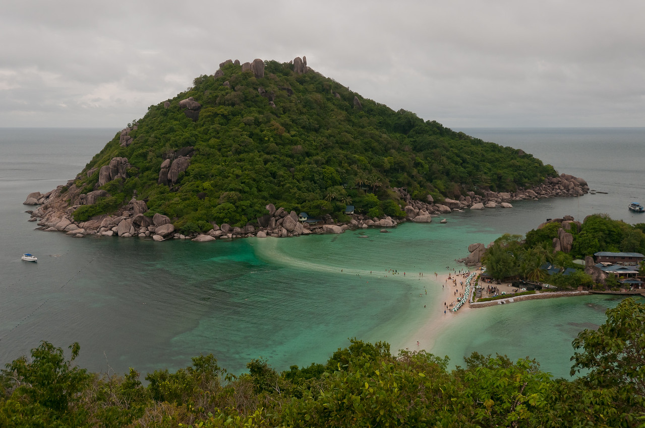 Shot of the nearby island from resort - Ko Samui, Thailand