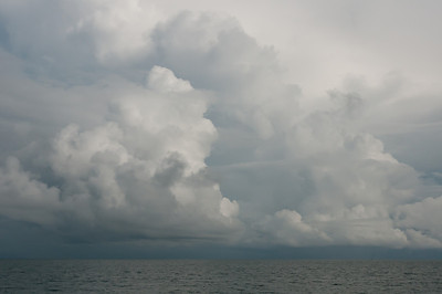 Large cloud formation above the sea in Ko Samui, Thailand