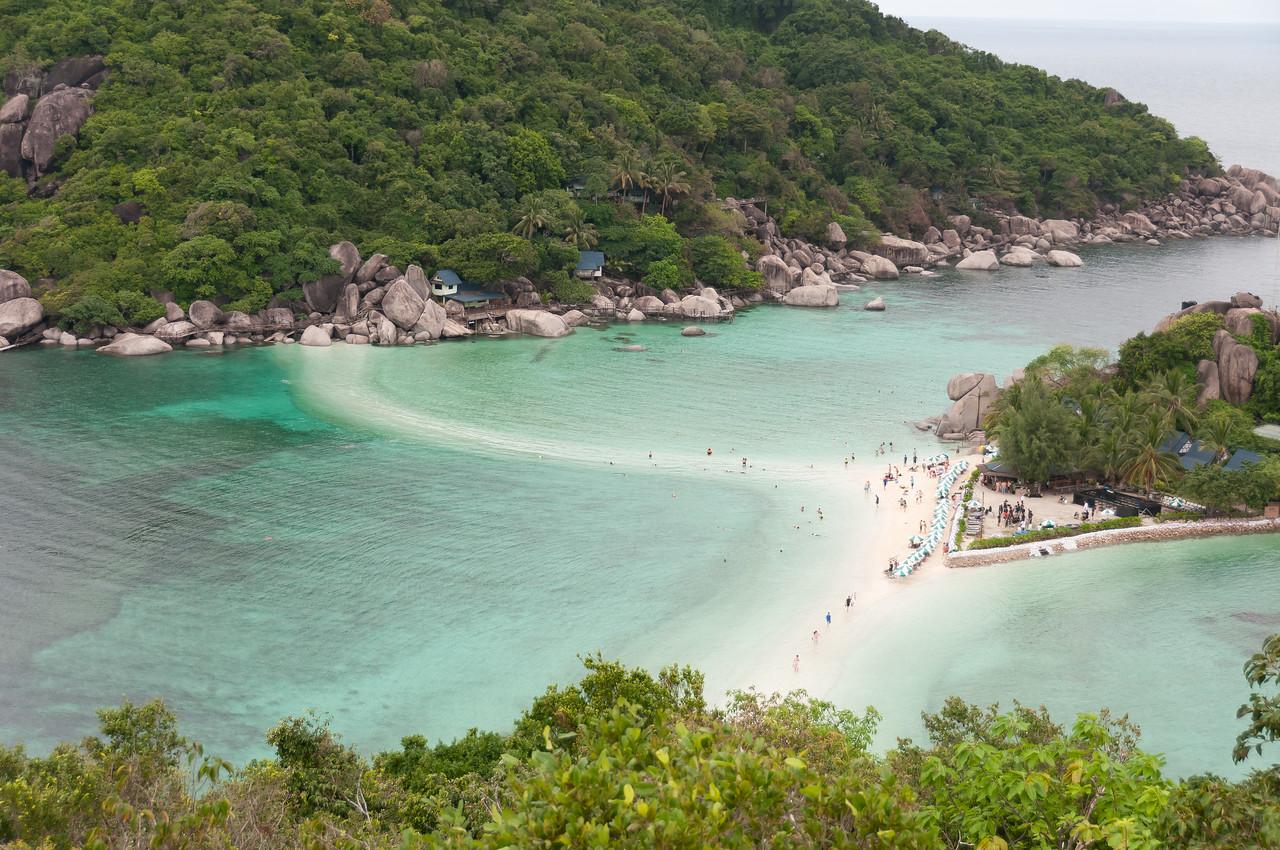 Beautiful island with sandbar in Ko Samui, Thailand