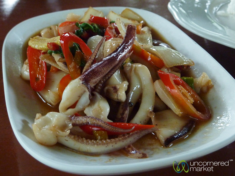 Piles of Squid and Chilies - Haad Yao, Thailand