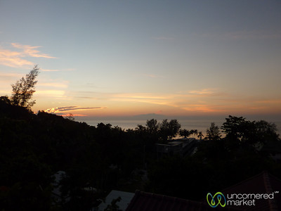 Sunset from our Balcony - Haad Yao, Thailand
