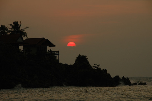 Sunset over Bungalows - Haad Yao, Thailand