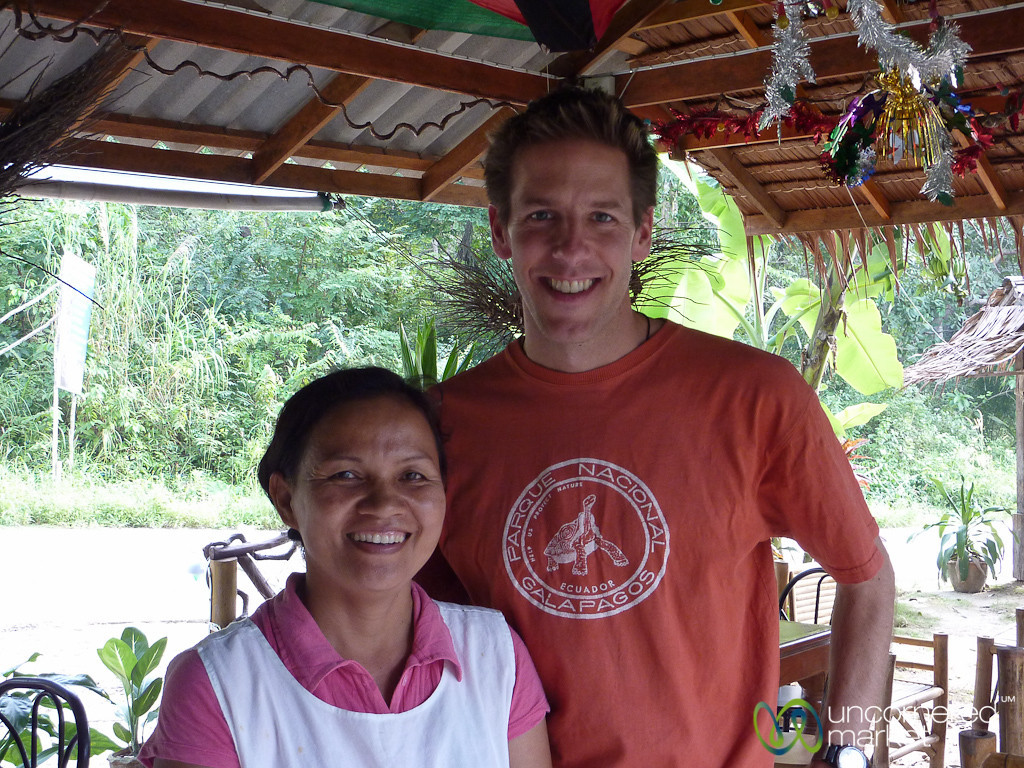 Dan with Tao, the Cook at our Favorite Place at Haad Yao - Koh Pha Ngan, Thailand
