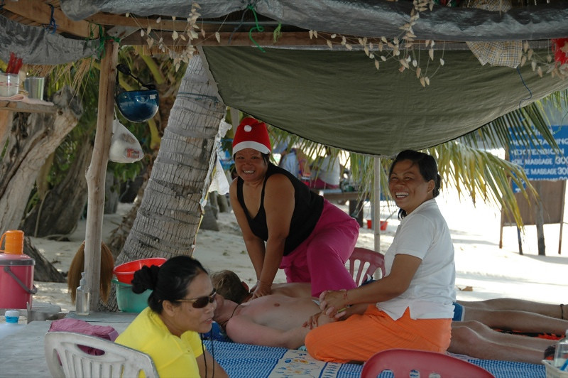 Masseuse at the Beach - Haad Yao, Thailand