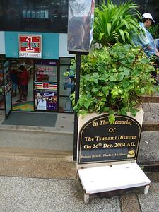 Tsunami Memorial at Big One Supermarket at Patong Beach, Koh Phuket - Thailand.