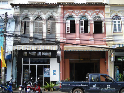 Shops in Phuket Town, Koh Phuket - Thailand.