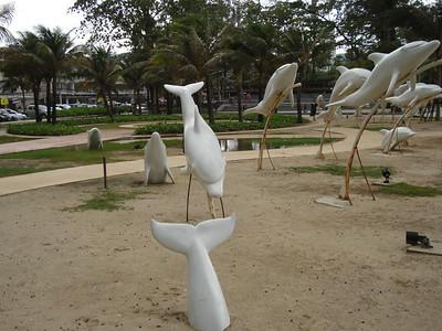 Dolphins Sculpture at Patong Beach, Koh Phuket - Thailand.