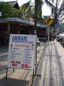 Tailor shops, Chaweng Beach, Koh Samui - Thailand.