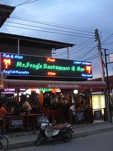 Mr Frogs Restaurant and Bar, Lamai, Koh Samui - Thailand.