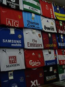 European Football Shirts for sale, Lamai, Koh Samui - Thailand.