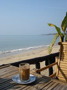 coffee, cafe, lamai, koh samui, thailand, beach