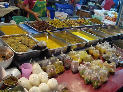 Food at the night market, Krabi - Thailand.