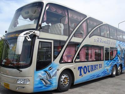 Tourist bus, Krabi - Thailand.