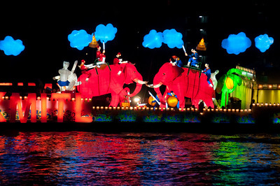 Colorful display on cruise - Thailand