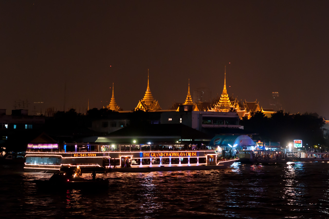 Tourist river cruise at night - Thailand
