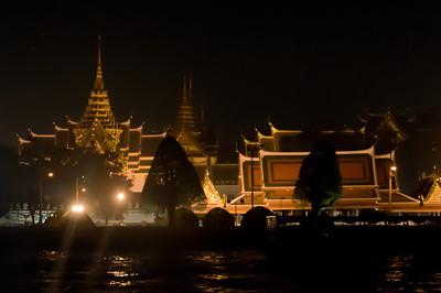 Bright city skyline in Thailand