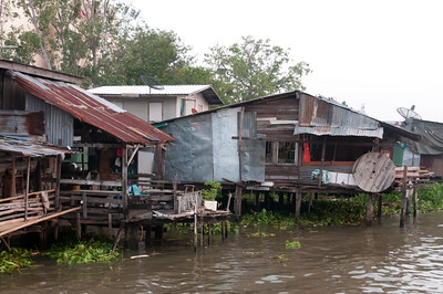 Houses on stilts at Chiang Mai, Thailand