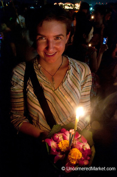 Audrey and Our Krathong - Loi Krathong Festival, Bangkok