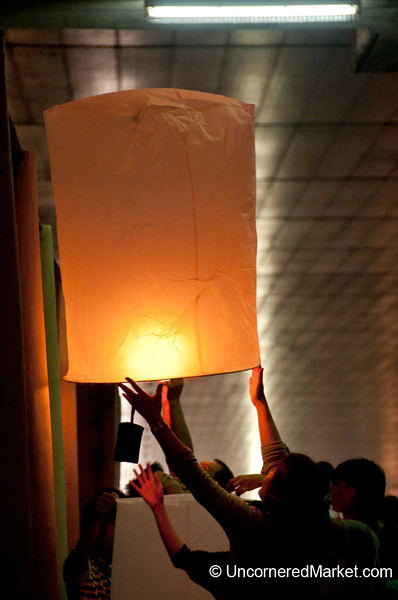 Letting Go - Loi Krathong Festival in Bangkok, Thailand