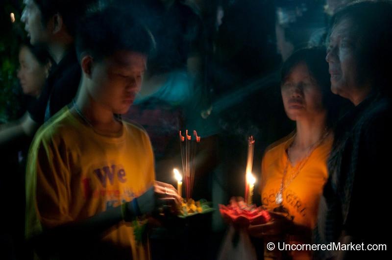 Family Moment - Loi Krathong Festival, Bangkok