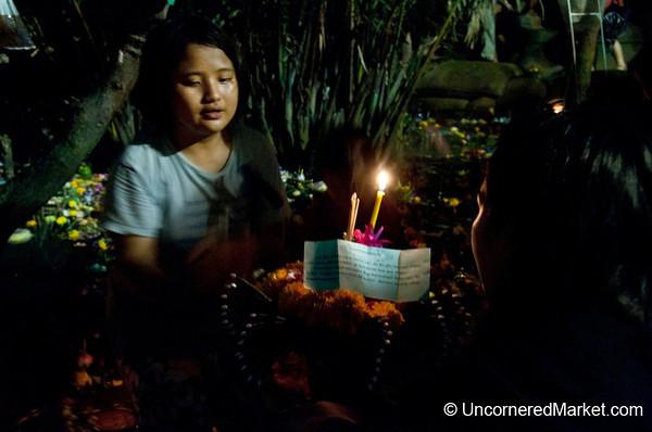 Lending a Hand - Loi Krathong Festival in Bangkok, Thailand