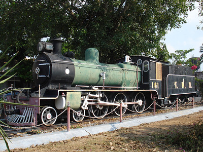 Lopburi Train Station old locomotive, Lopburi - Thailand.