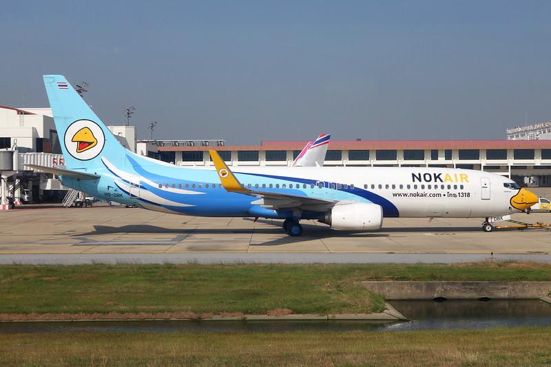 "HS-DBK Boeing 737-86J ""Nok Air"" c/n 37774 Bangkok-Don Mueang/VTBD/DMK 12-12-14"