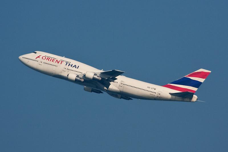 """HS-UTW Boeing 747-346 """"Orient Thai Airlines"""" c/n 23067 Hong Kong-Chek Lap Kok/VHHH/HKG 20-11-10"""