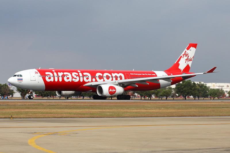 """HS-XTD Airbus A330-343X """"Thai AirAsia X"""" c/n 741 Bangkok-Don Mueang/VTBD/DMK 09-01-16"""