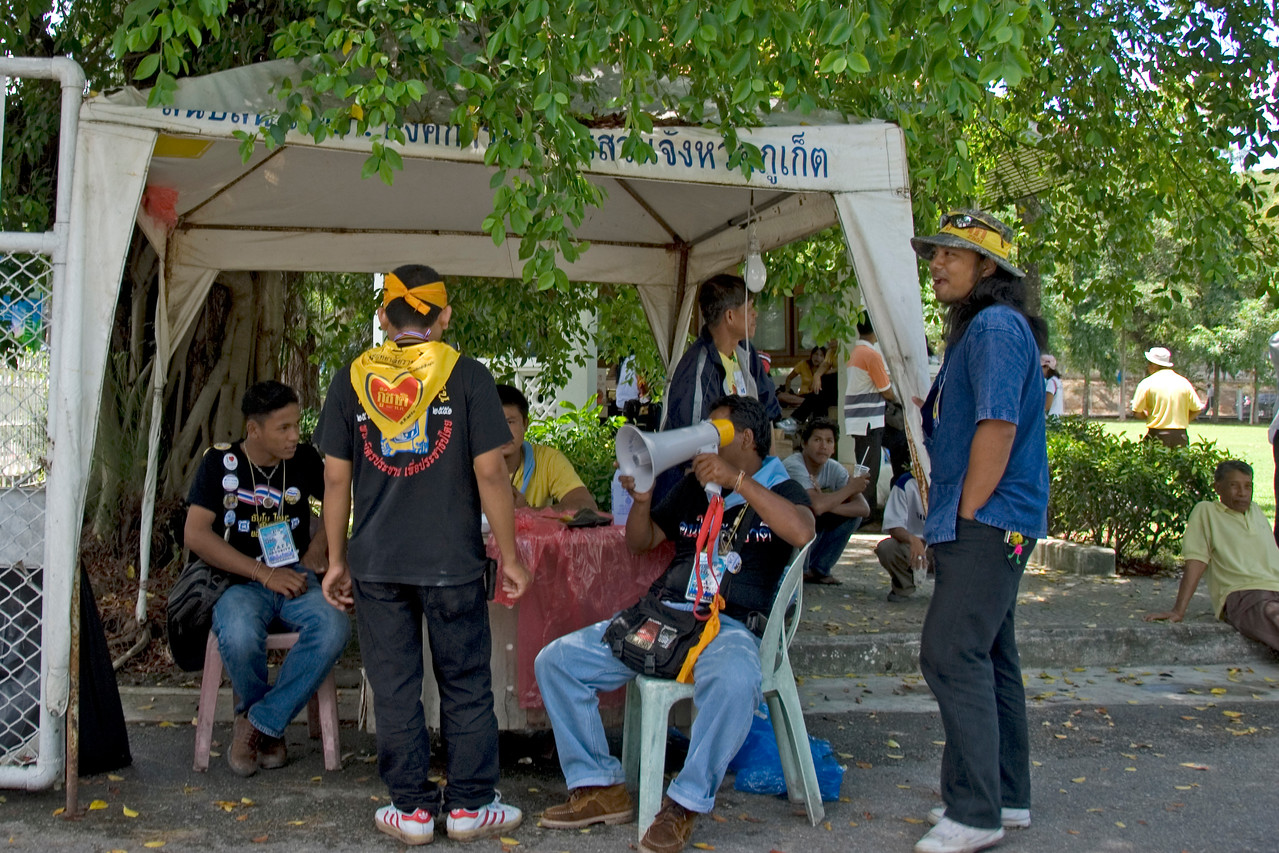 PDA Protesters in Phuket, Thailand