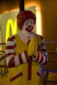 Ronald McDonald at a McDonald's branch in Thailand