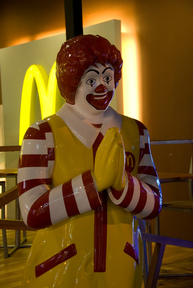 Ronald McDonald at a McDonald's branch in Thailand