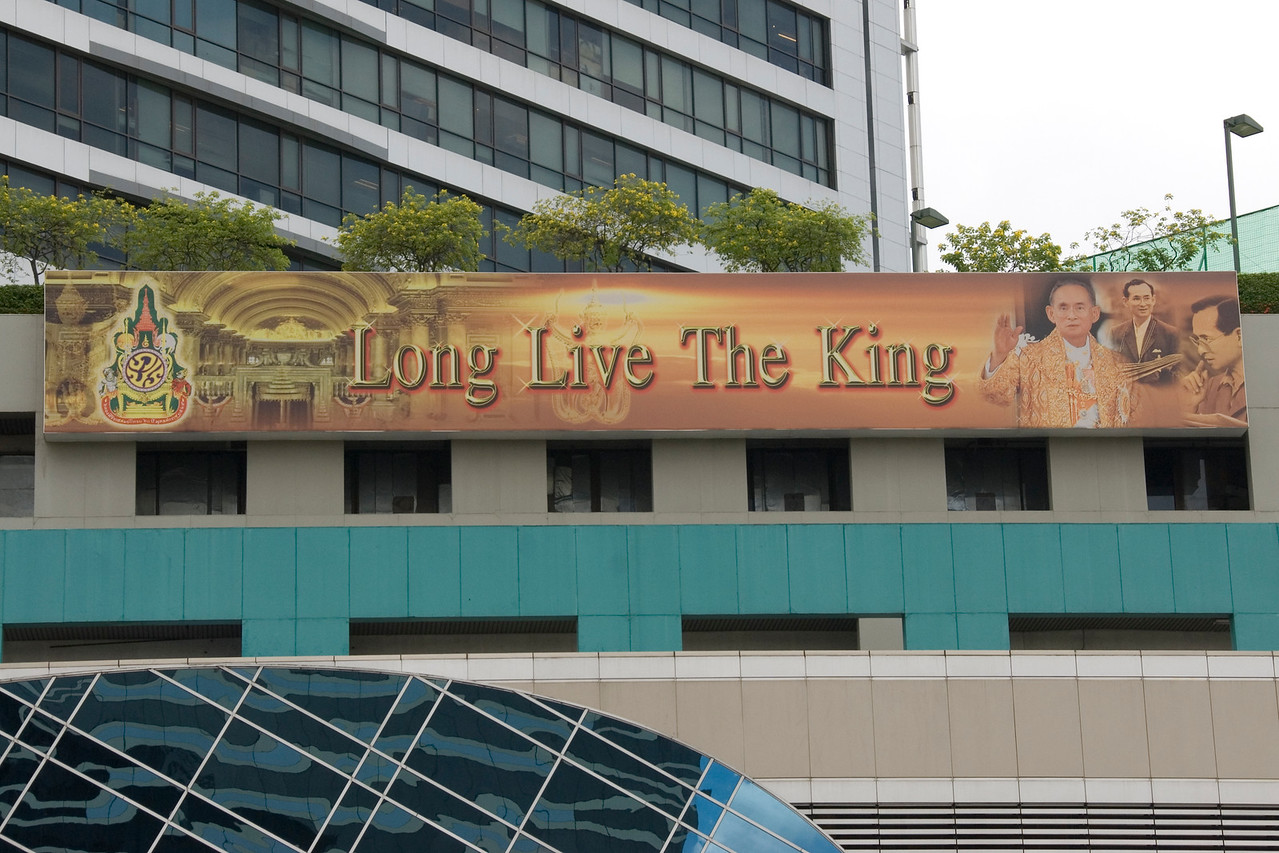 Long Live the King Sign in Bangkok, Thailand