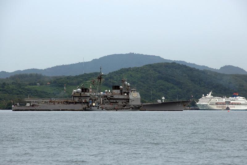 Malaysian Naval Ship at sea - Phuket, Thailand