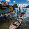 Colorful and artistic composition at the Indonesian floating village close to the James Bond Island.