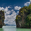 """The legendary limestone rock called Ko Tapu that found fame through the 1974 Bond film """"The Man with the Golden Gun""""."""